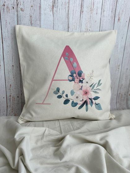 Подушка именная с монограммой