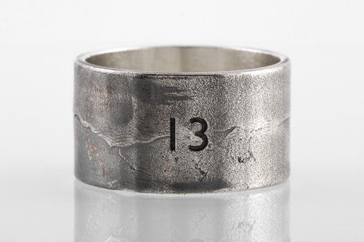 Серебряное кольцо «Тринадцать»