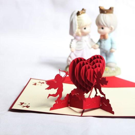 3D открытки валентинки ручной работы
