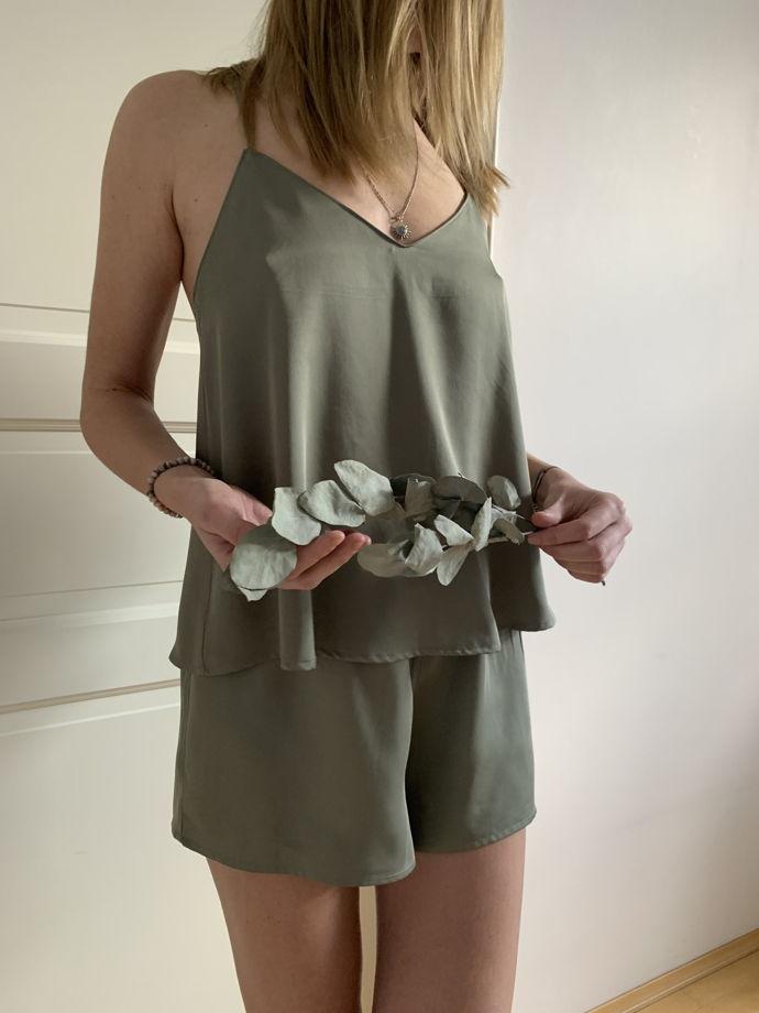 Пижама (топ+шорты) из 100% вискозы