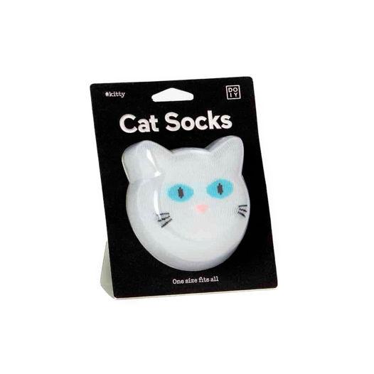 Носки в форме кошки Носки DOIY Cat Socks - White