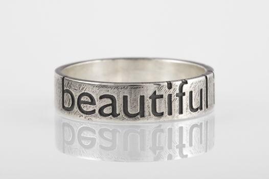 Серебряное кольцо «beautiful is boring»