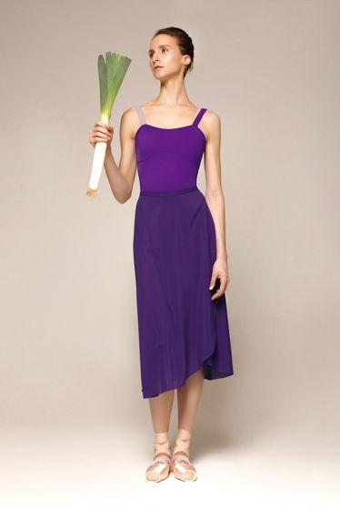 Юбка с запахом фиолетовая для балета / хореографии | 4 длины