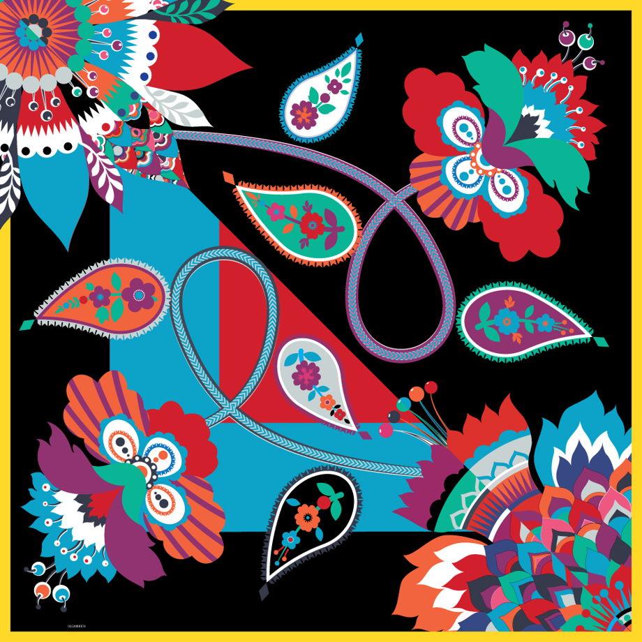 Цветы Иваново палантин из шифона