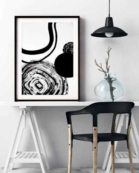 Постер ручной работы, акрил, бумага BLACK 2