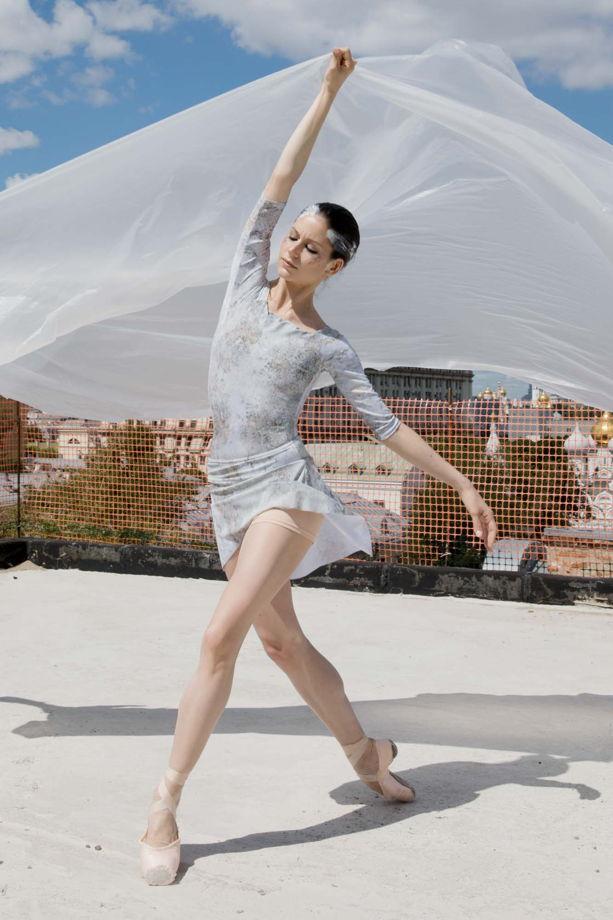 Юбка + Шорты Тянутся, испачканные принтом для балета / танцев / йоги