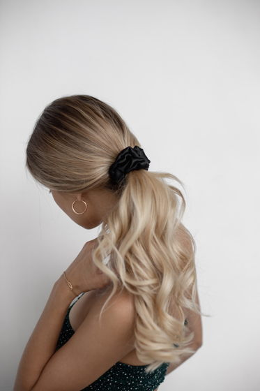 Резинка для волос STANDART из натурального шелка черная