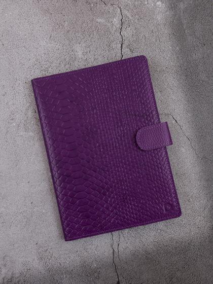 Мини-органайзер для документов А5 Питон Фиолетовый