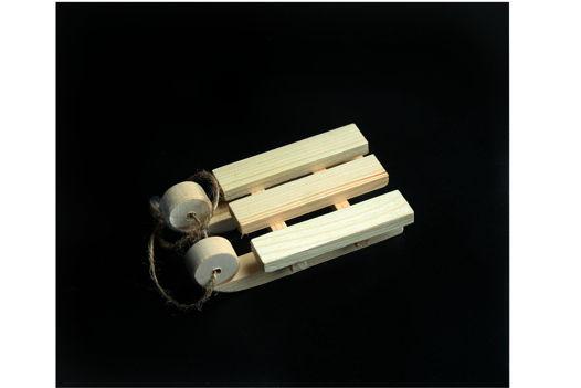 Саночки игрушечные деревянные на веревочке