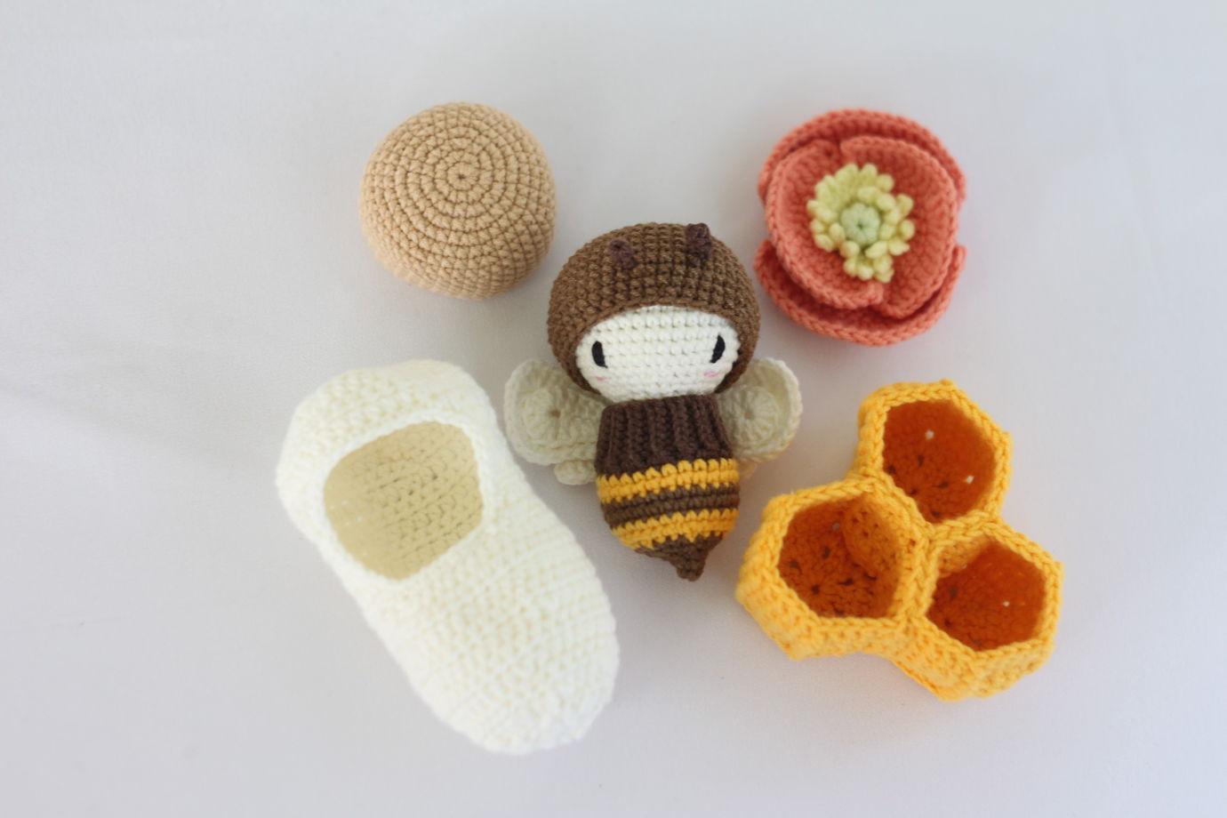 Вязаный развивающий набор - Жизненный цикл пчелы