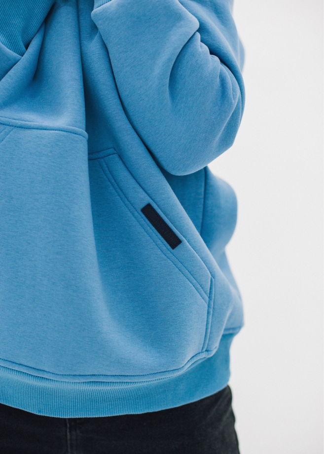 худи oversize (голубой)