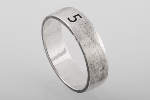 Серебряное кольцо «Пять»