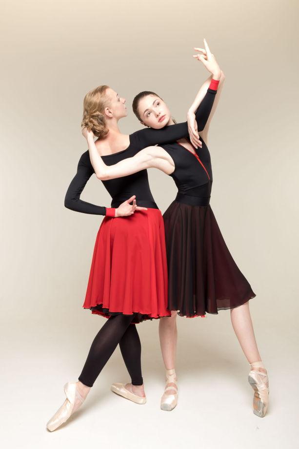 481632  (двусторонняя репетиционная юбка) для танцев / хореографии
