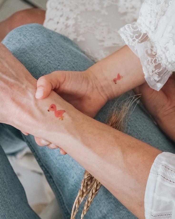 """Временные переводные татуировки MimiToo """"Кенгуру"""" для детей и взрослых"""