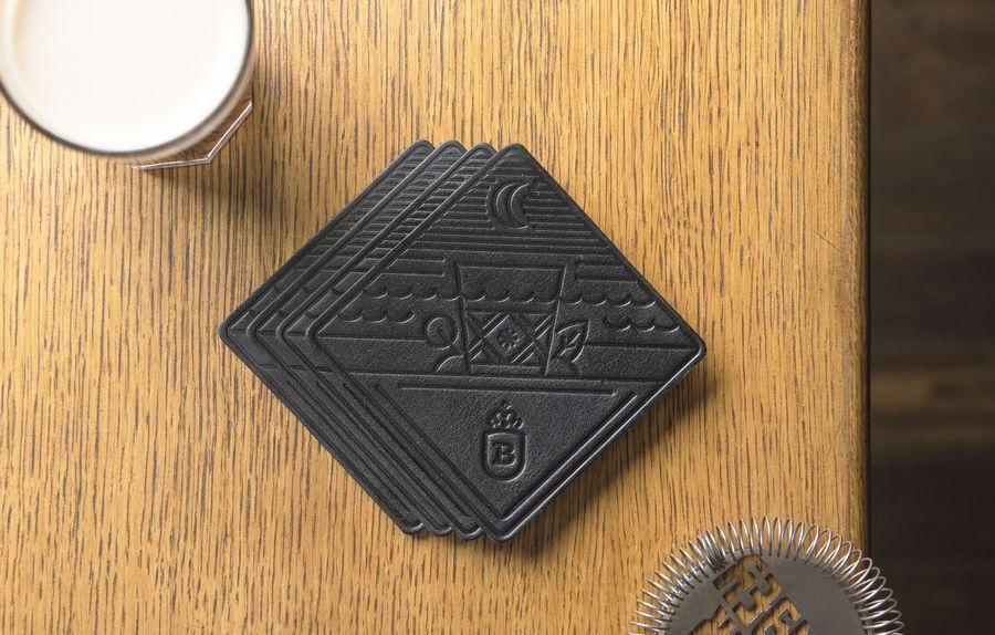 Сувенирный набор костеров для бара, Stout, 4 шт. в подарочной упаковке