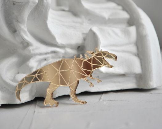 Зеркальная брошь Тираннозавр