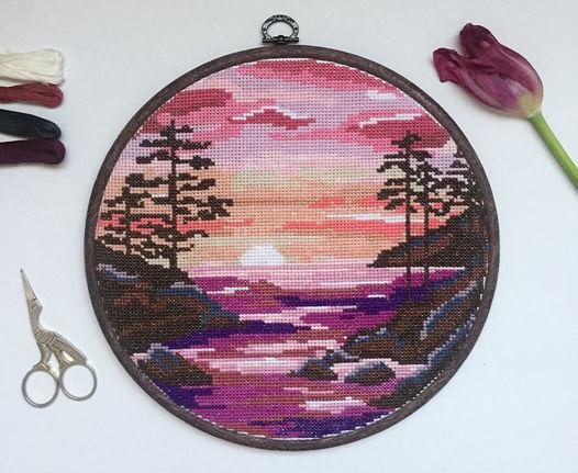 Настенное панно «Розовый вечер»