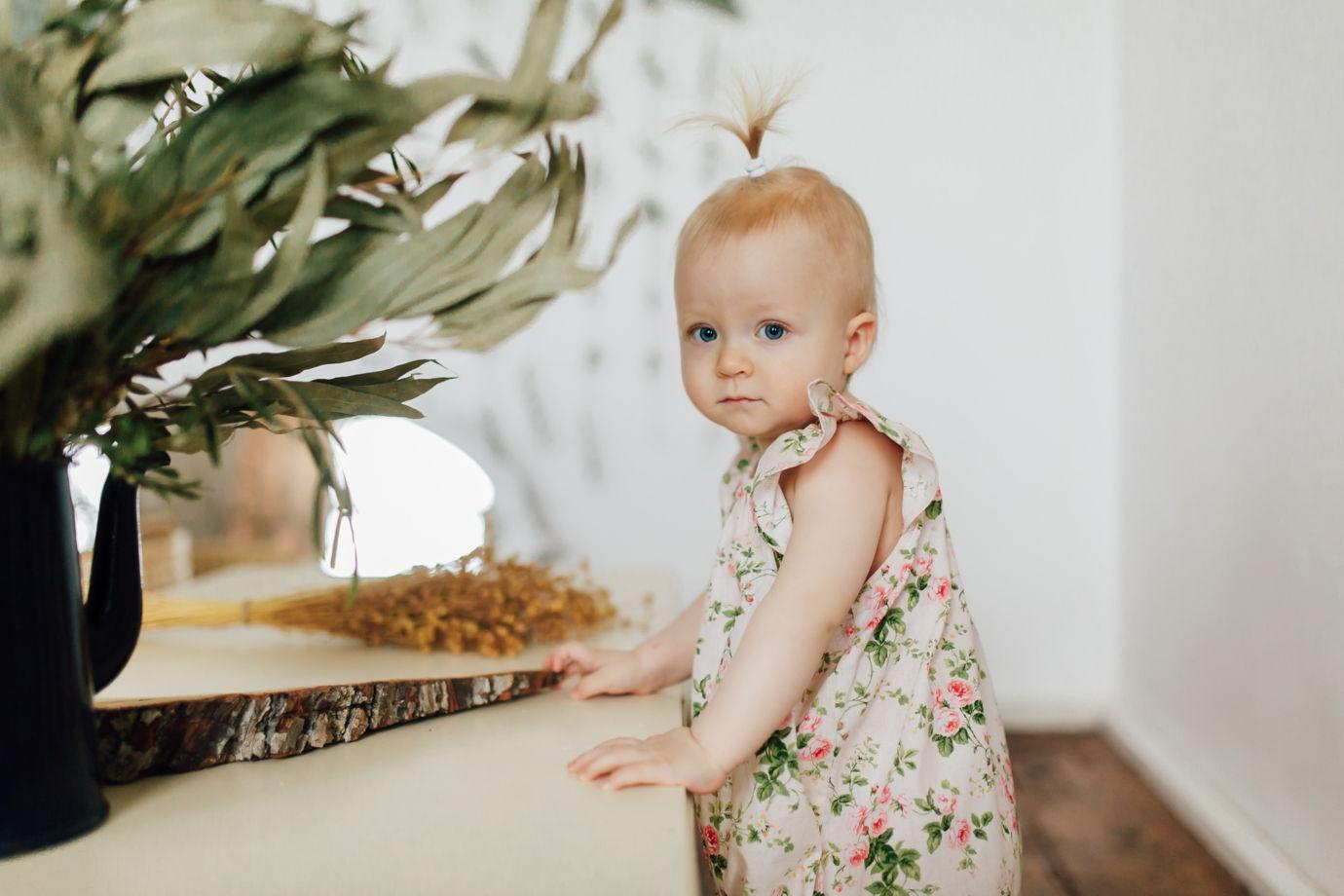 Хлопковый боди с крылышками цвет пудра в розах