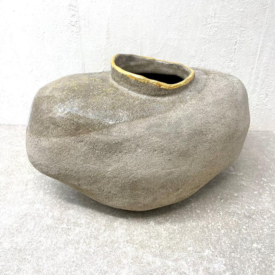 """Ваза ручной работы из керамики """"Каменное сердце"""""""
