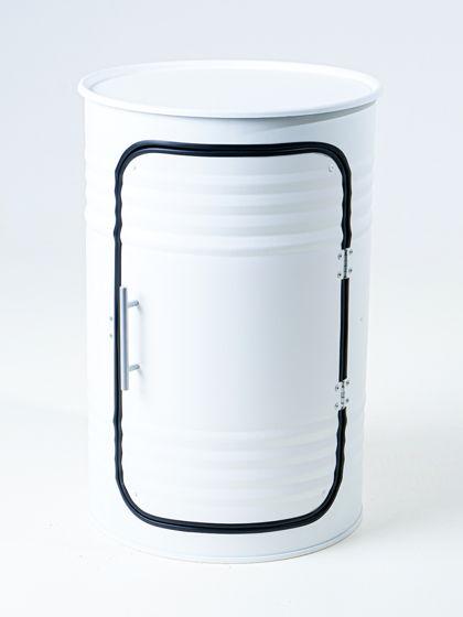 Декоративная бочка-шкаф PRO WHITE
