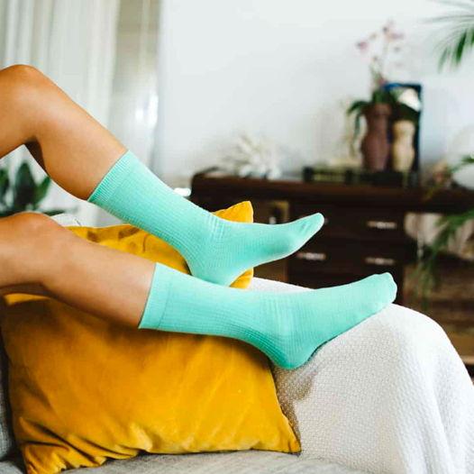Носки в форме матраса для йоги DOIY Yoga Mat Socks - Green