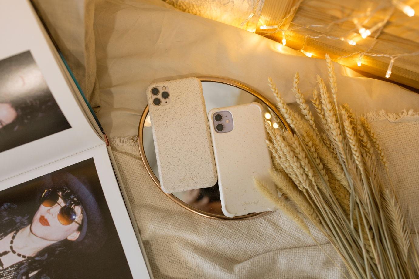 Биоразлагаемый чехол SOLOMA для iPhone 11 Pro Max Пшеница