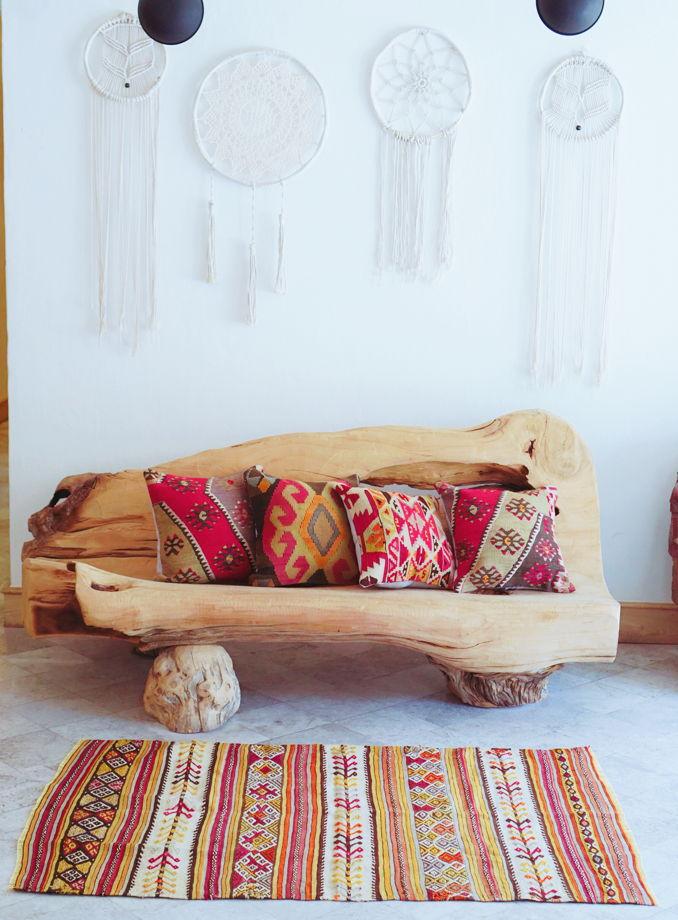 Чехлы на подушки из ковров килим
