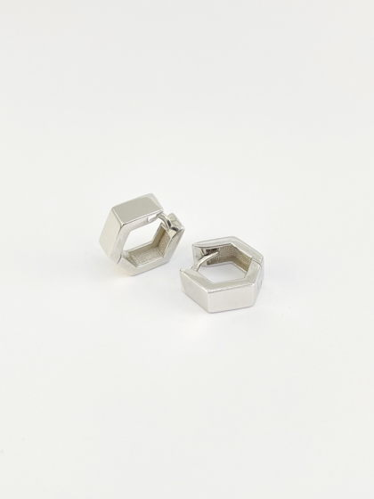 Серьги грани широкие / серебро 925