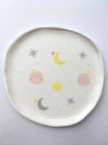 "Тарелка ручной работы ""Moon&stars"""