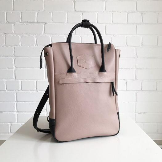 Кожаный рюкзак-сумка Urban Pack Powder Rose/Black