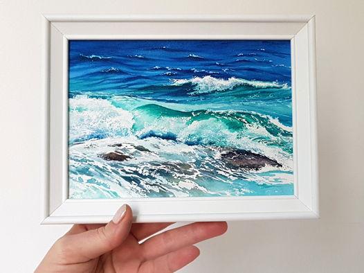 """Акварельная картина из серии """"Морской пейзаж в миниатюре"""""""