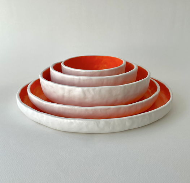 Керамический набор из 5-ти тарелок MINE