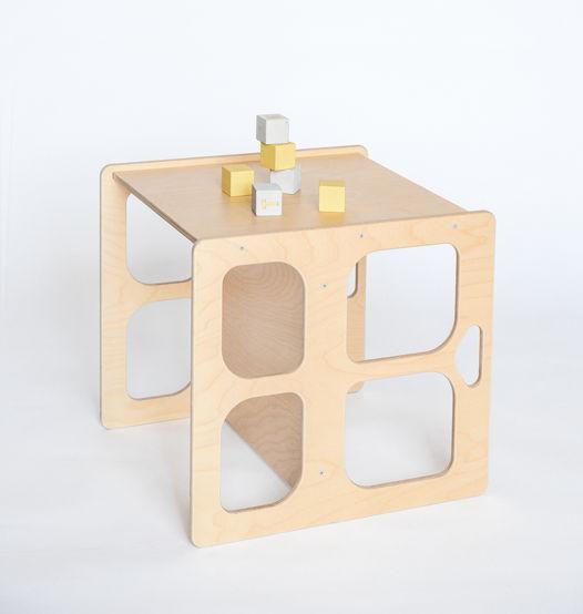 Деревянный стол-скамья трансформер Лайт Монтессори Киддис, цвет натуральное дерево