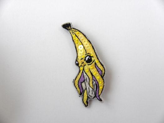 Брошь безумный банан