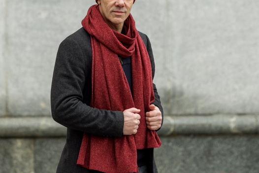 Шерстяной шарф Friend Function Красный меланж