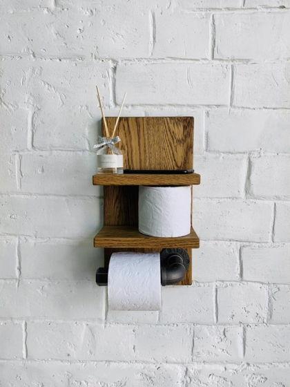 """Держатель для туалетной бумаги из массива дуба """"Stand"""""""