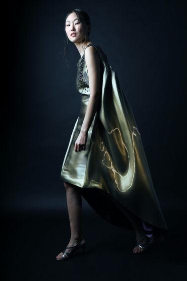"""Платье  Universe из коллекции """"Disappearing Feelings"""". Размер oversized 42-44. Выполненное вручную в единственном экземпляре. Декорировано стразами Swarovski."""