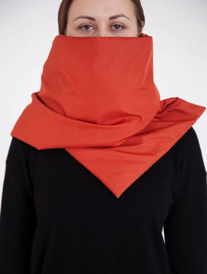 Зимний шарф - палантин сицилийский апельсин