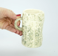 """Керамическая кружка цвета """"Милитари"""" для кофе/чая ручной работы"""