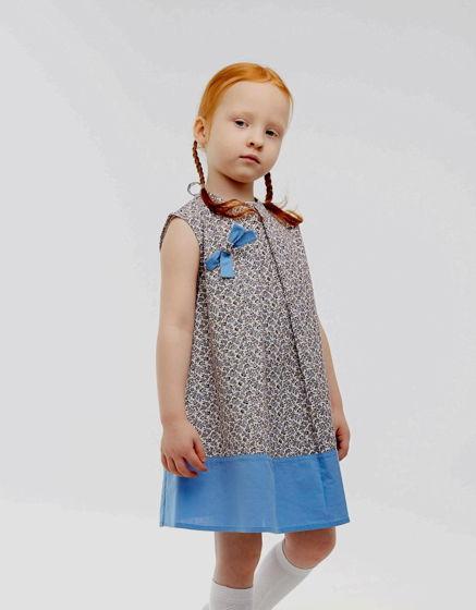 Платье с брошью АНЕТ (хлопок, размер 104-110)