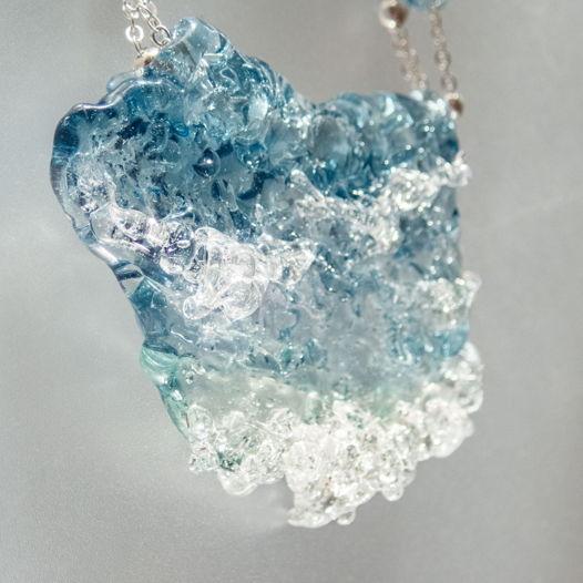 Ожерелье Прибрежные волны (синее)