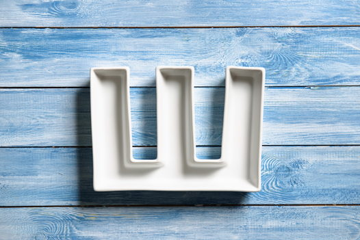 Керамическая буква Ш
