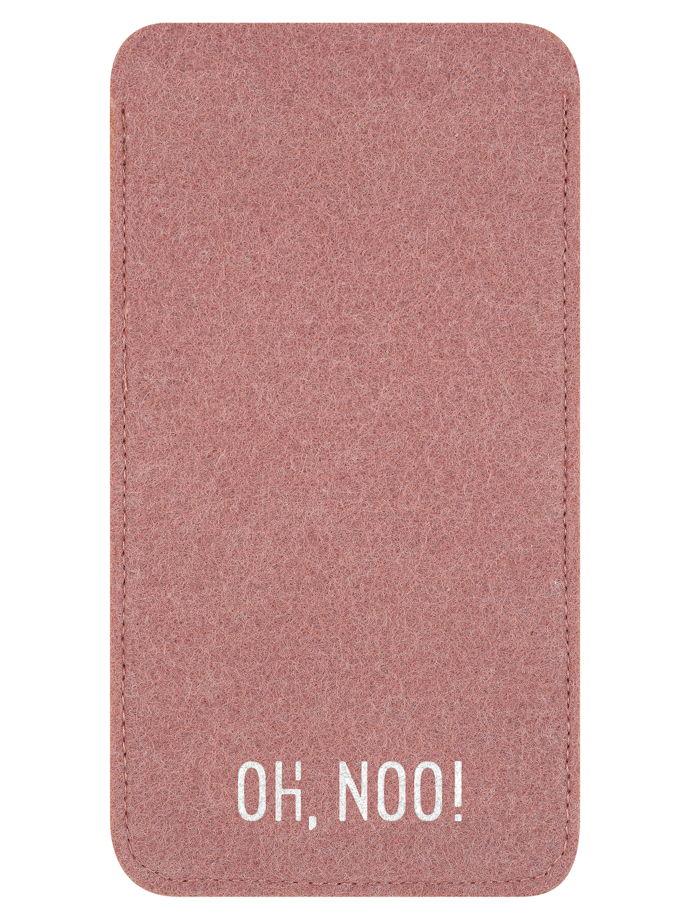 Чехол из фетра для iPhone и телефонов, дымчатое-розовый