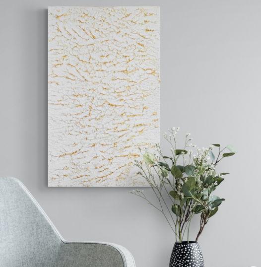 """Текстурная интерьерная картина """"Золотые горы"""", 60х40см"""