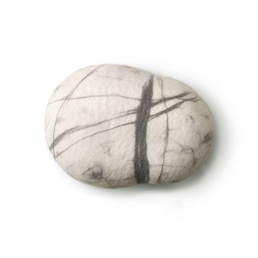 """ПОДУШКА-КАМЕНЬ. Модель """"Белый камень""""(25см)"""