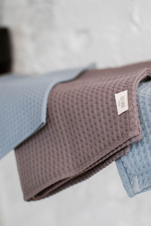 Полотенце из вафельной ткани «Серо-коричневый цвет»
