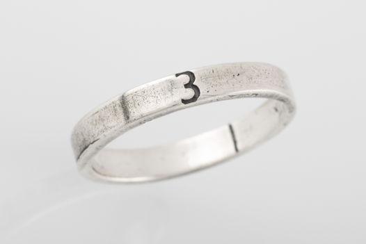 Серебряное кольцо «Три»