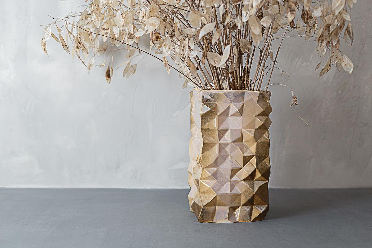 Большая керамическая ваза На грани