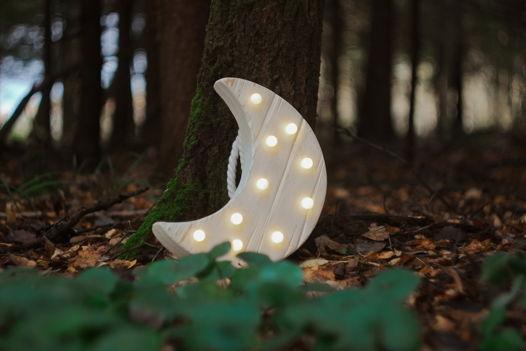 ЛУНА  — Авторский светильник, ночник из дерева ручной работы