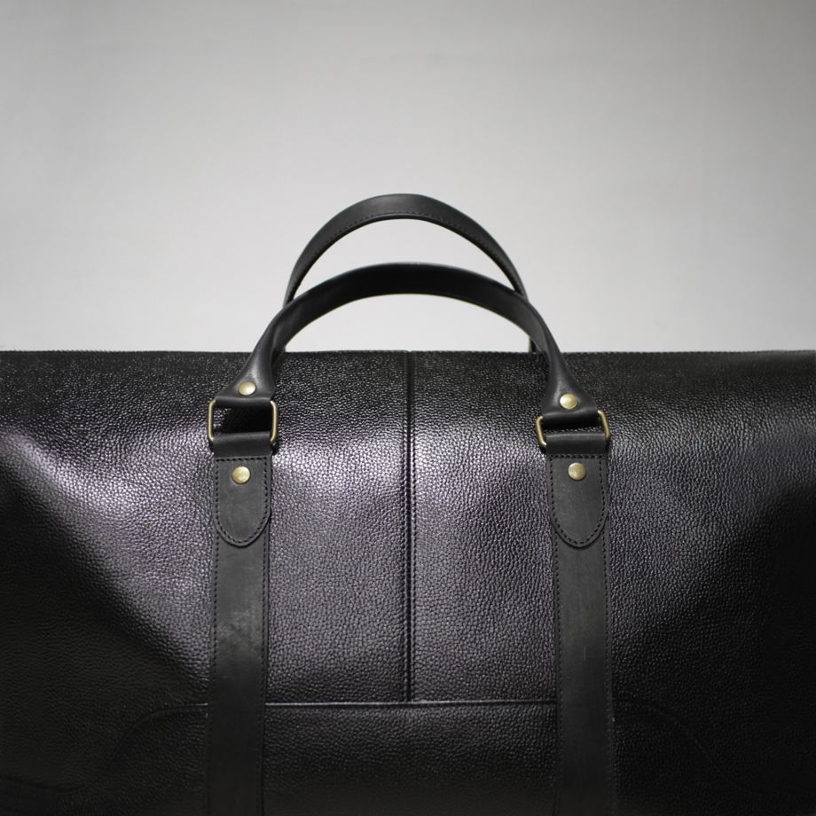 Кожаная сумка ДОРОЖНАЯ ALL BLACK